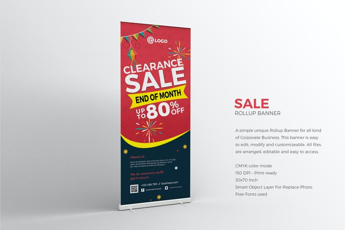 Thumbnail for Sale Roll-up Banner
