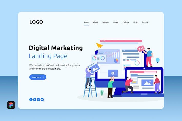 Thumbnail for Dimar - Digital Marketing Landing 7