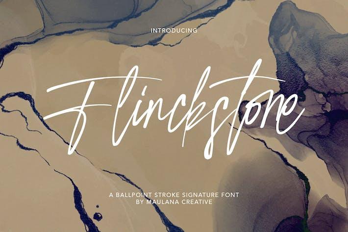 Flinckstone Ballpoint Stroke Signature Font