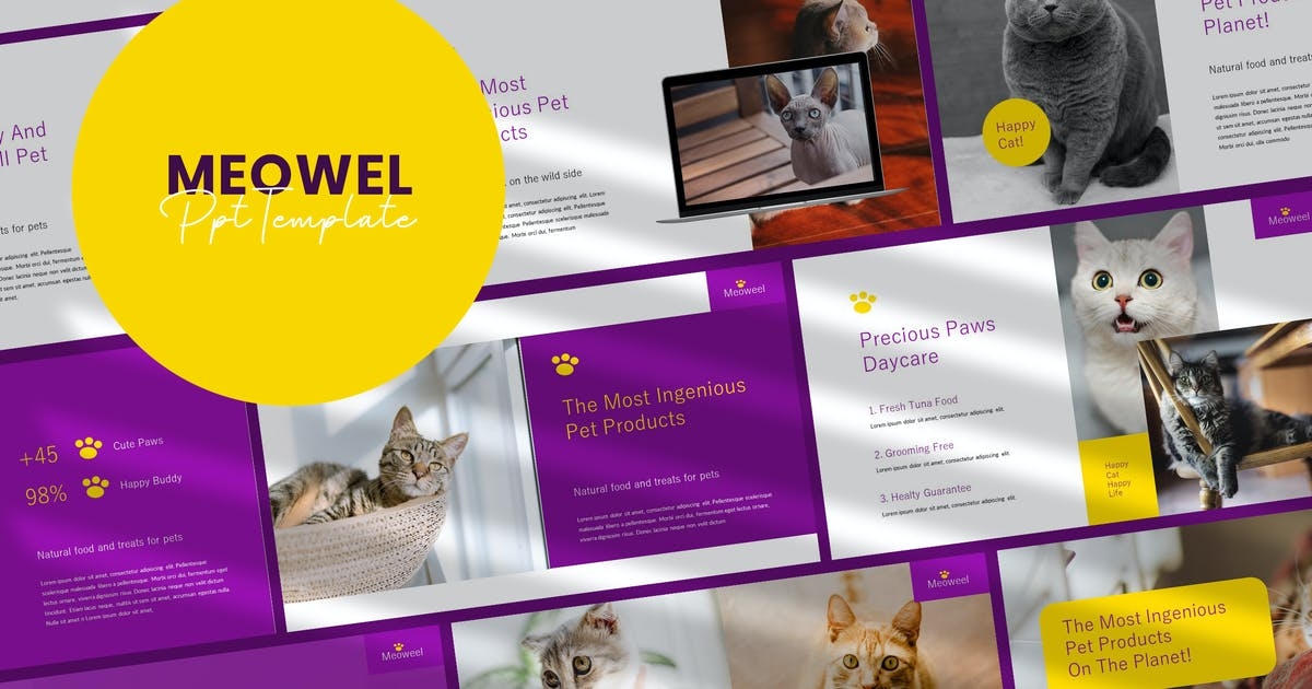 Download Meowel - Powerpoint Presentation Template by Slidehack