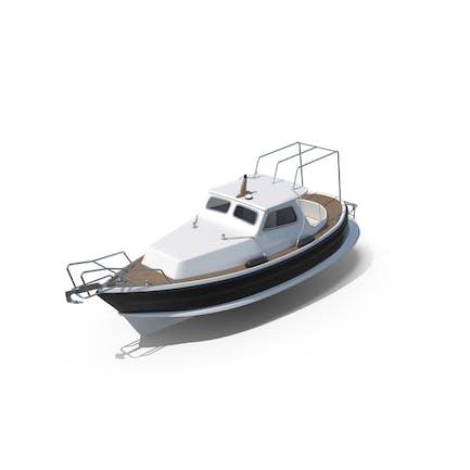 Traditionelles kleines Seemotorboot