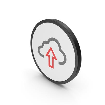 Icon Cloud Upload Red Gray
