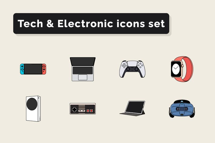 Tech & Electronic Technology icons