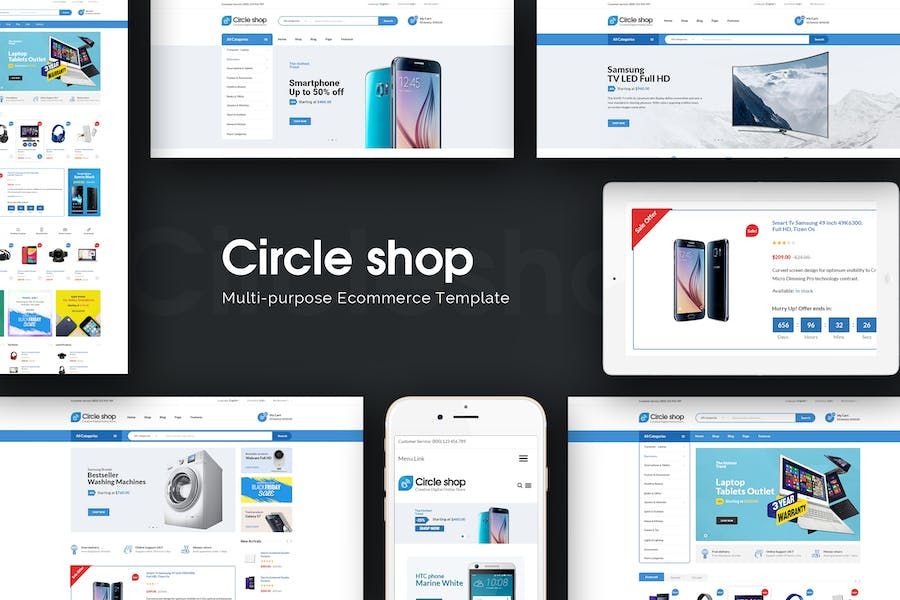 CircleShop - Responsive Prestashop Theme - product preview 0