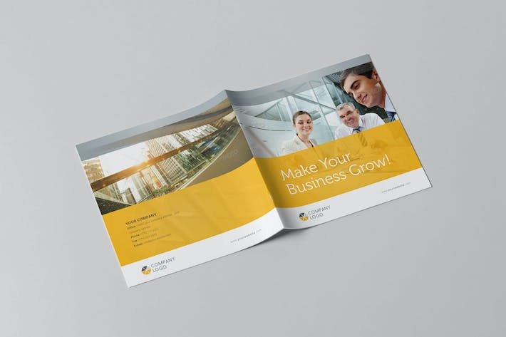 Thumbnail for Clean Business Square Brochure