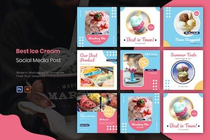Лучшее мороженое   Instagram Post