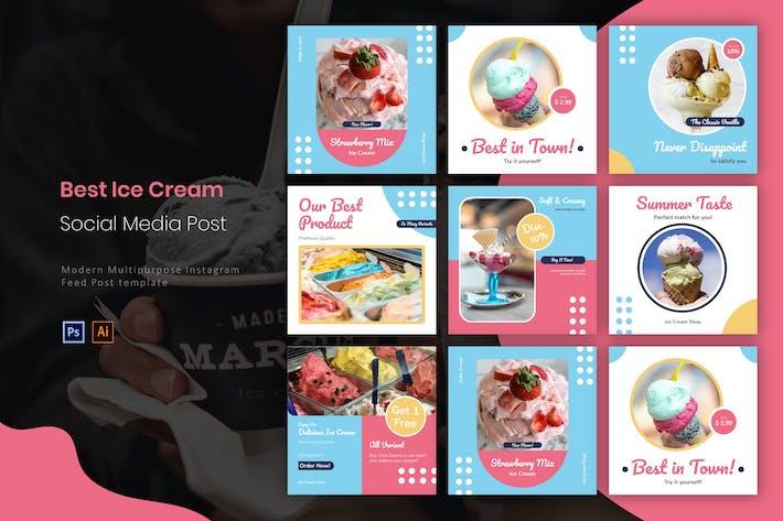 Thumbnail for Best Ice Cream | Instagram Post