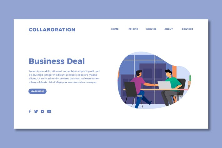 Thumbnail for Collaboration - Landing Page Template