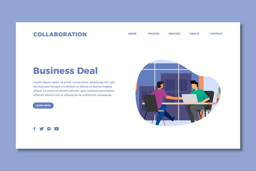 Collaboration - Landing Page Template