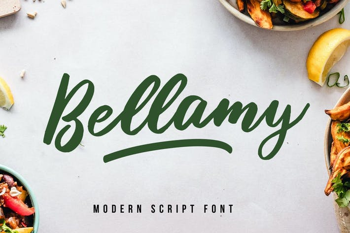 Cover Image For Bellamy Modern Script