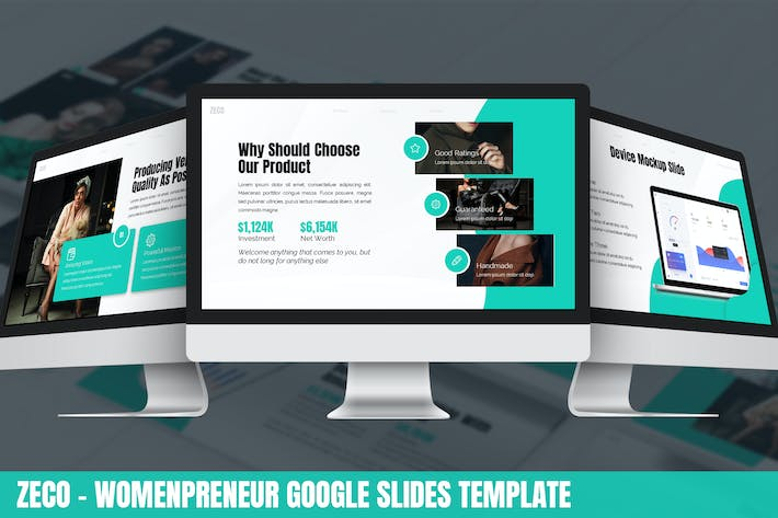 Cover Image For Zeco - Womenpreneur Google Slides Template