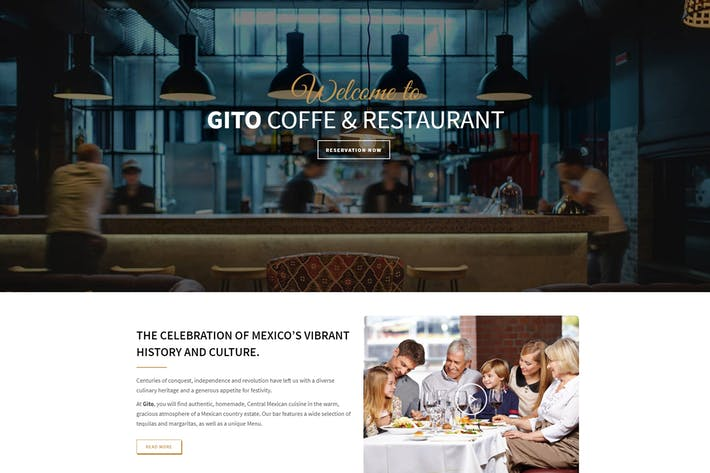 Cover Image For GITO - Café & Restaurant Drupal 8 Thème