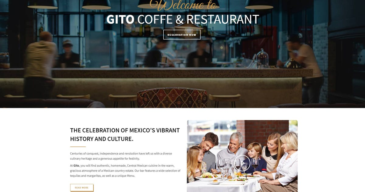Download GITO - Cafe & Restaurant Drupal 8 Theme by gavias