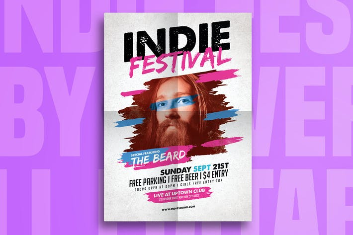 Thumbnail for Indie Fest Music Flyer