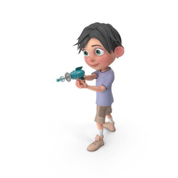 Cartoon Boy Jack Shooting