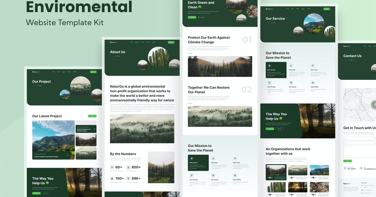 Download Environmental Save The Earth Website Template by TanahAirStudio