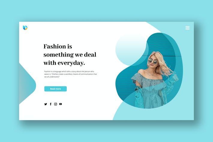 Cover Image For Fashion Hero Header PSD Template