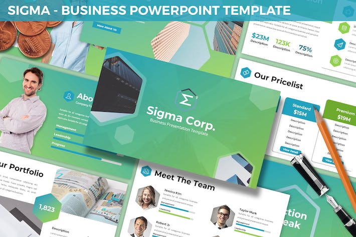 Thumbnail for Sigma - Business Powerpoint Template