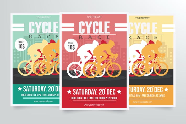 Thumbnail for Road Bicycle Racing Flyer Template