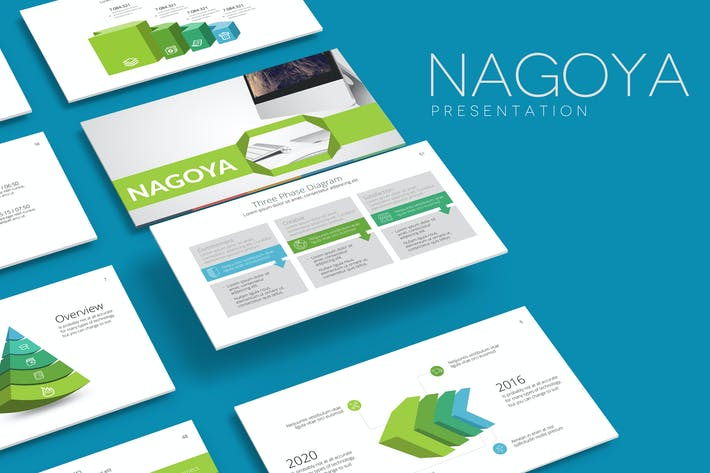 Thumbnail for NAGOYA Powerpoint Template