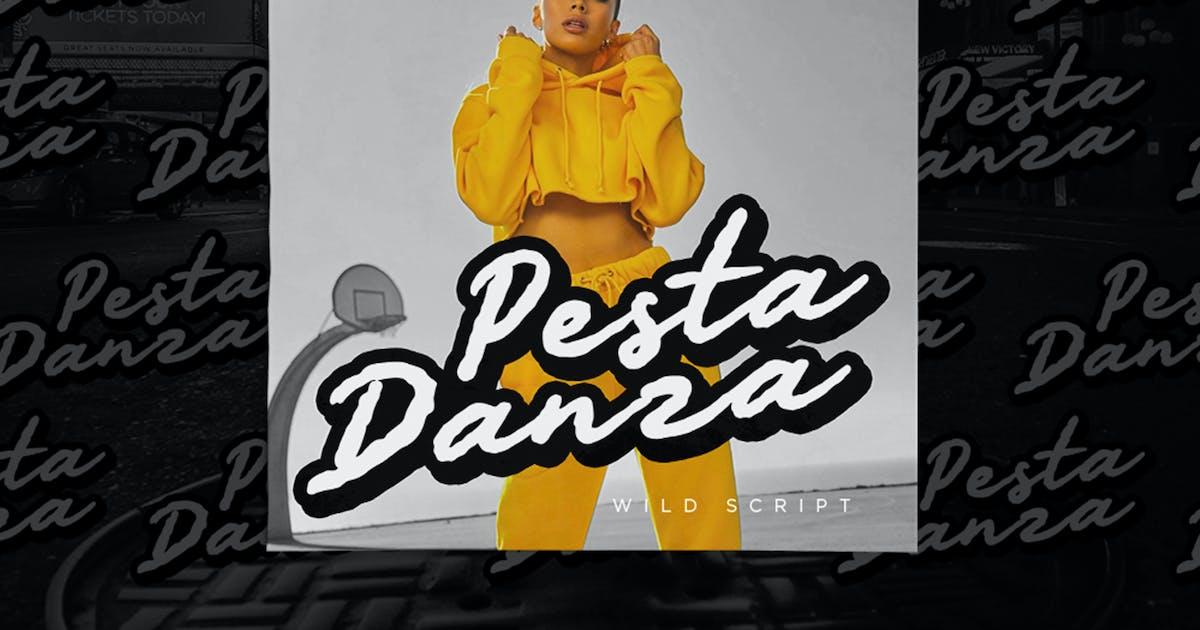 Download Pesta Danza - Wild Expressive Font by konstantinestudio