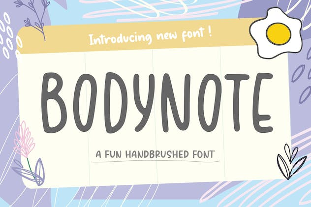 Bodynote Brush Font YH