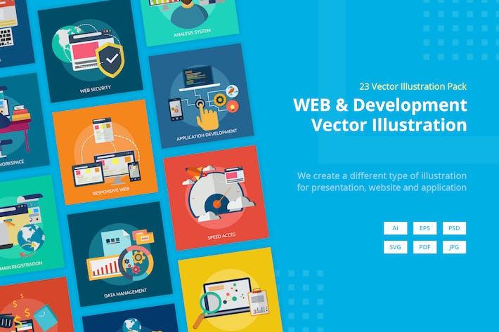 Thumbnail for Web- und EntwicklungsVektor illustration