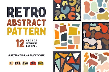 Abstract Shape Retro Patterns