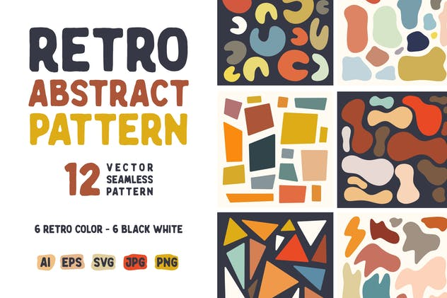 Abstract Shape Retro Patterns - product preview 0