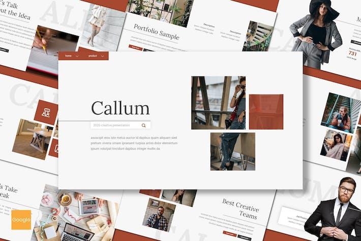 Thumbnail for Callum - Creative Google Slides Template