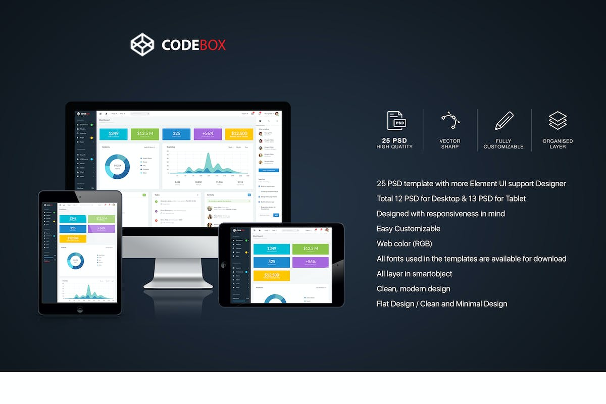 Download CodeBox – Admin Dashboard UI by hoangpts by Unknow