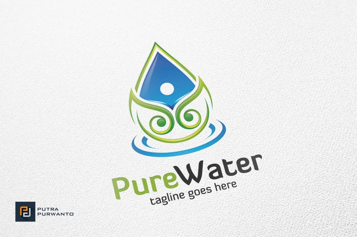 Thumbnail for Pure Water - Logo Template