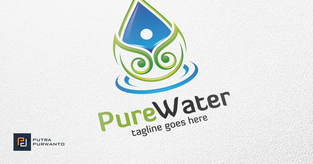 Download Pure Water - Logo Template by putra_purwanto