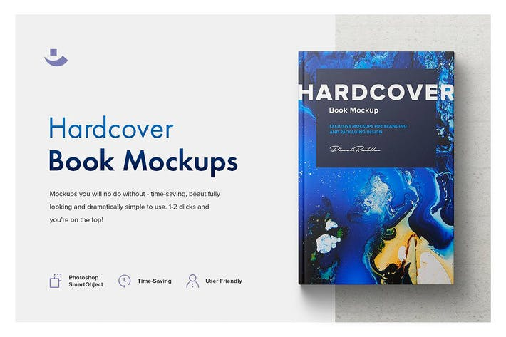 Thumbnail for Hardcover Book Mockup Set
