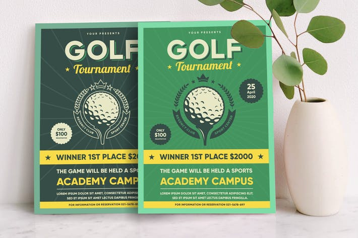 Thumbnail for Widtemp - Golf Flyer Template