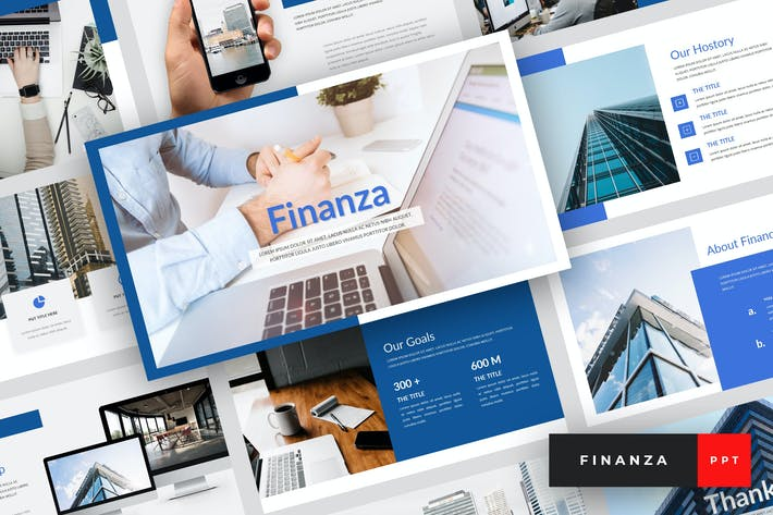 Thumbnail for Finanza - Finance PowerPoint Template