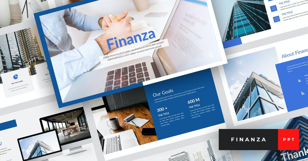 Download Finanza - Finance PowerPoint Template by StringLabs