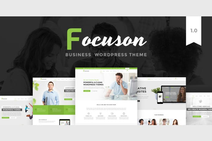 Download 633 business card templates envato elements thumbnail for focuson business html theme friedricerecipe Images