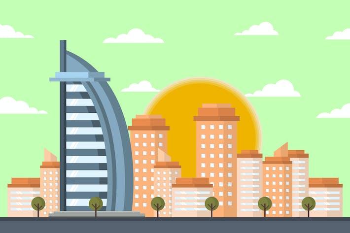Thumbnail for Burj Al Arab Dubai - Building Illustration