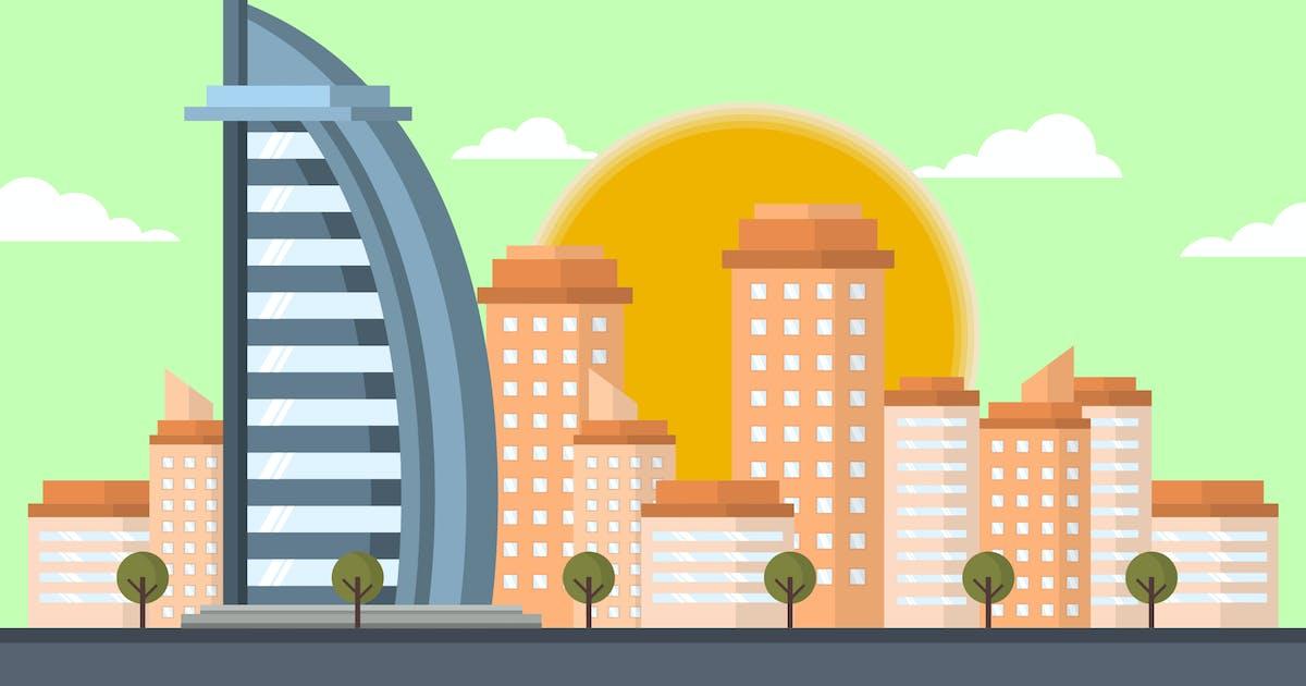 Download Burj Al Arab Dubai - Building Illustration by Graphiqa
