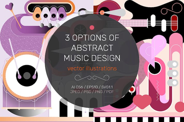 Thumbnail for Abstract Musical Design vector illustration