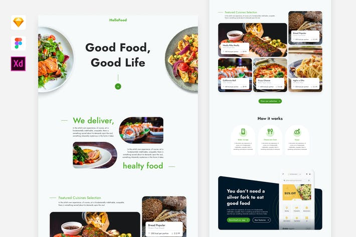 Thumbnail for Food Delivery Website Template