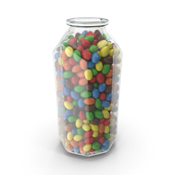 Thumbnail for Octagon Jar with Peanuts with Colored Chocolate Coating