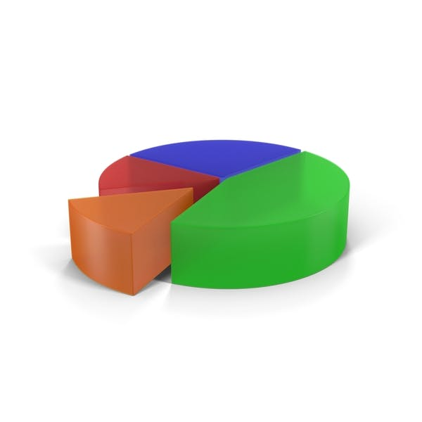 Thumbnail for Translucent Multicolored Pie Chart Segment