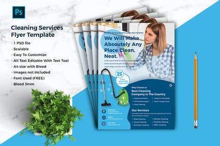 Cleaning Services Flyer Template vol.01