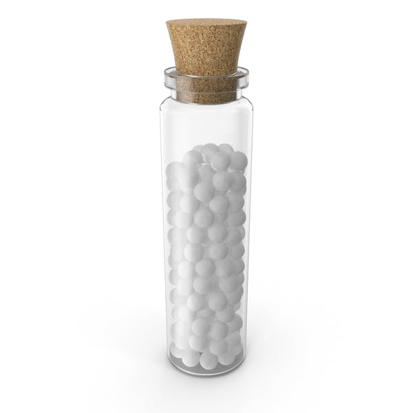 Homöopathische Globule Medizinflasche