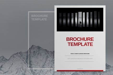 Red Company Brochure Template