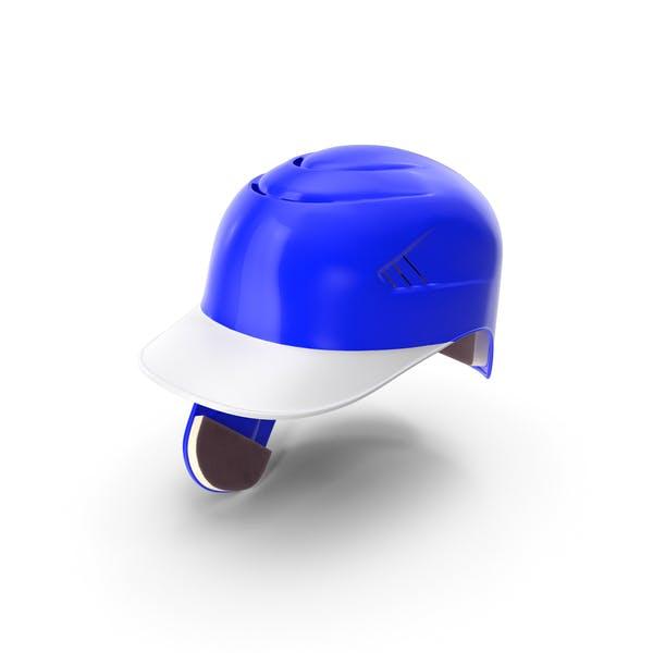 Baseball Helmet C Flap Blue