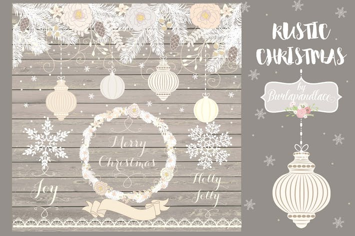 Thumbnail for Rustic Christmas cliparts