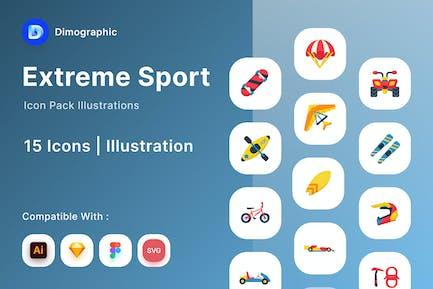 Extremsport Icon-Paket